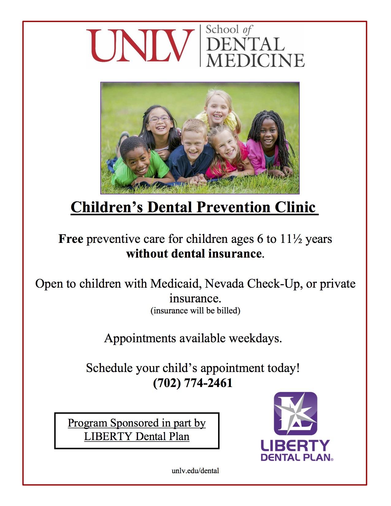 UNLV SDM Children's Clinic Flyer12012020 (1)